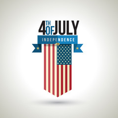 American independence day banner design. Vector illustration.