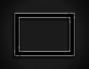 Black frame on black  background