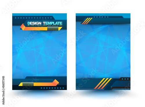 Abstract Design Vector Template Layout For Magazine Brochure Flyer