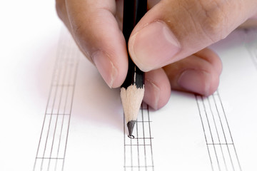 Write musical notes