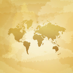 World map on dirty background vector illustration