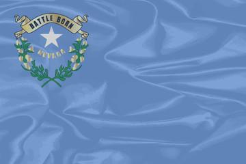 Nevada State SIlk Flag
