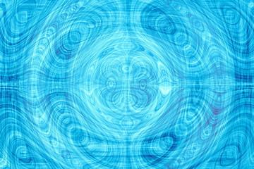 Fotobehang Fractal waves blue background