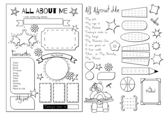All about me. School Printable