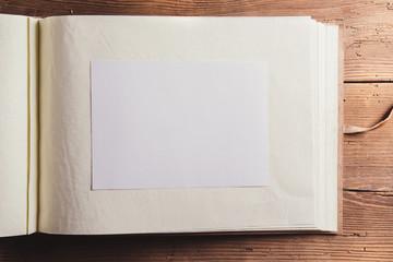Empty photoalbum