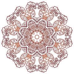 Circular floral ornament Mehndi Henna Tattoo Mandala, Yantra