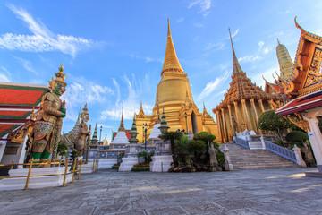 Poster de jardin Bangkok Wat Phra Kaew Ancient temple in bangkok Thailand
