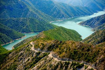 Fototapeta Kozjak lake in Macedonia obraz