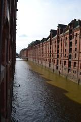 Hamburg, kanał na Elbie