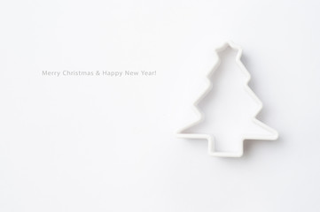 Christmas card with mold for baking. Look through my portfolio t