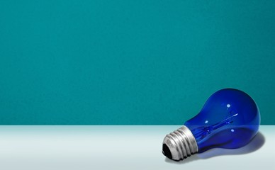 Intellectual Property, Light Bulb, Blue.