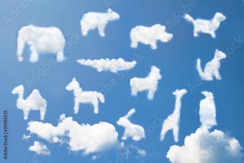 Как нарисовать облако в виде зверей