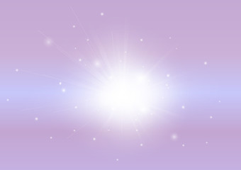Pink with glowing light ray beam abstract background