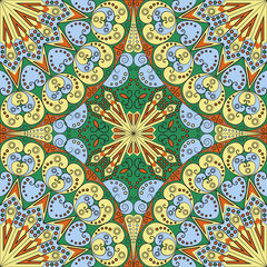 Poster de jardin Tuiles Marocaines Abstract patterned background