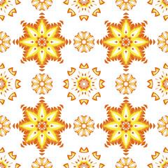 Floral mandala seamless pattern.