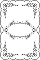 Art ornament fine scroll frame