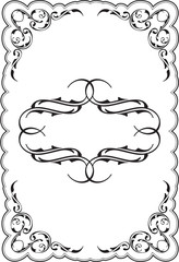 Art ornament scroll frame