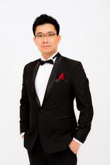A man in tuxedo
