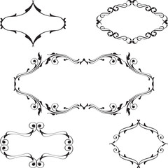 Baroque vintage frame set