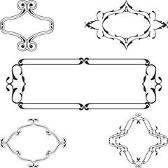 Baroque vintage nice frame set
