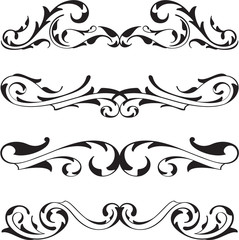 Divide victorian design elements set