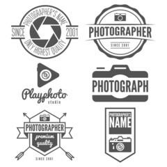 Set of logo, emblem, print, sticker, label or logotype elements
