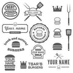 Set of logo, labels, stickers and logotype elements for fast