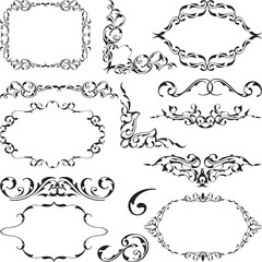 Ornate elements set