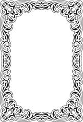 Retro aroque nice frame