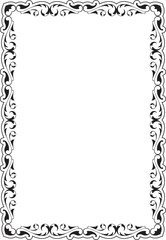 Victorian scroll frame