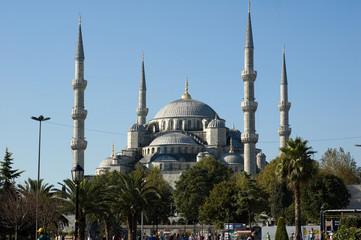 La moscea blu di Istanbul in Turchia