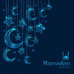 Ramadan Kareem celebration greeting card