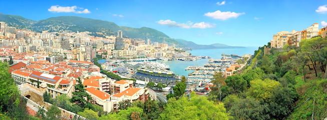 Vue panoramique de Monaco et Monte-Carlo
