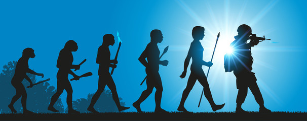 Hommes Evolution Guerre