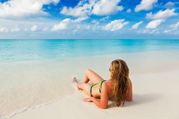 holiday at the beach paradise Caribbean islands