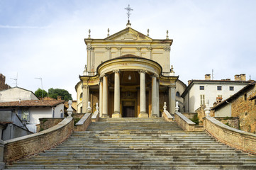 Montemagno (Asti): The parish church of San Martino and Stefano. Color image