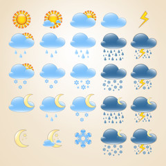 25 detailed weather icons