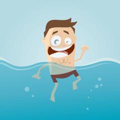 schwimmen baden mann spaß clipart