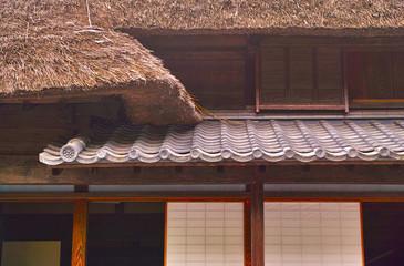 日本の古い農家の住宅