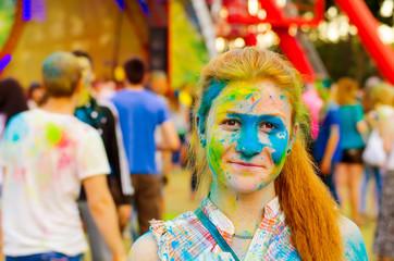 KHARKIV, UKRAINE- June 22: Holi celebrations on June 22, 2015 in
