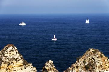 Ponta de Piedade in Lagos, Algarve coast in Portugal
