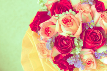 Roses as a background, retro vintage style