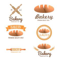 Set of logo, badge, label, emblem and logotype elements for