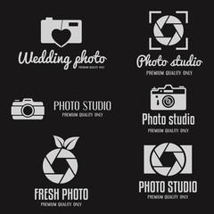 Set of vintage and modern logo, icon, emblem, label or logotype