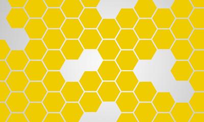 Modern Abstract Background yellow Hexagonal Design