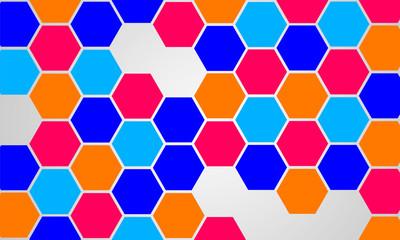 Modern Abstract Background Hexagonal Design