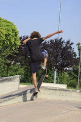 skateboarder at skatepark