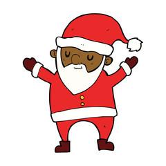 cartoon dancing santa