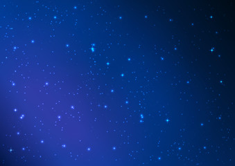 Blue Abstract background. Night sky with stars. Vector illustrat