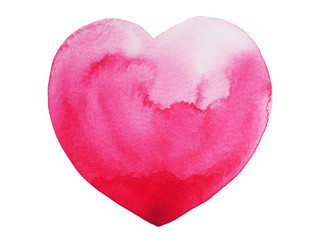 heart paint, watercolor painting, illustration design